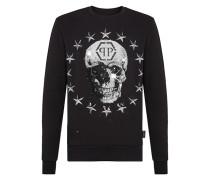 Sweatshirt LS Stars and skull