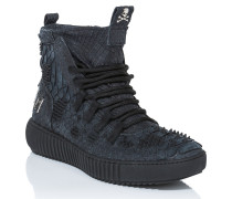 """Hi-Top Sneakers """"skull brown"""""""