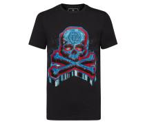 T-shirt Platinum Cut Round Neck Graffiti