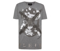 "T-shirt Black Cut Round Neck ""Daylight"""