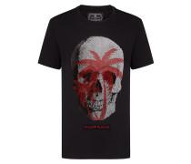 T-shirt Platinum Cut Round Neck Warning