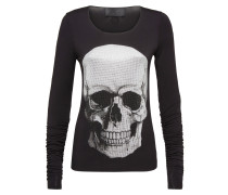 "T-shirt Round Neck LS ""Big Front Skull"
