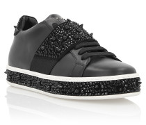 "Lo-Top Sneakers ""Full of crystal"""