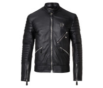 "Leather Moto Jacket ""Dark Car"""