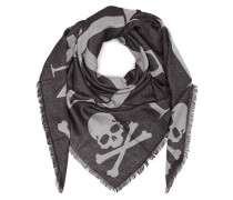 "Square Scarf ""Skull all in W"""