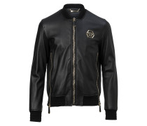 """Leather Bomber """"Gold vibe"""""""