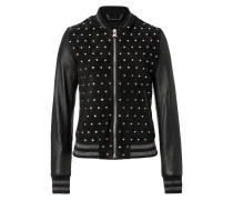 "Leather Bomber ""Bright Snake"""