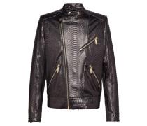 """Leather Moto Jacket """"Python car"""""""