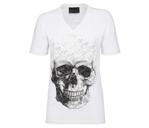 "T-shirt V-Neck SS ""Crystal and Skull"""