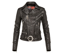 "Leather Biker ""Reach that"""