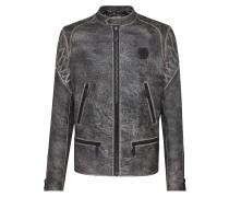 Leather Moto Jacket Skull
