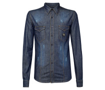 "Denim Shirt Ls ""Skull stars"""