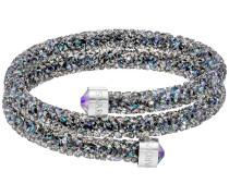 Crystaldust Doppel-Armreif, mehrfarbig, Edelstahl Violett Edelstahl