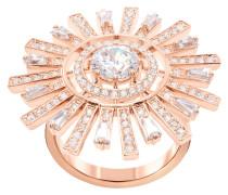 Sunshine Cocktail Ring, weiss, Rosé vergoldet