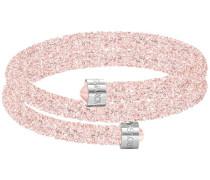 Crystaldust Doppel-Armreif, rosa, Edelstahl Rosa Edelstahl