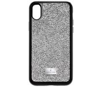Glam Rock Smartphone Etui mit integriertem Bumper, iPhone® X, grau Edelstahl