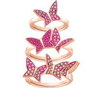 Lilia Ringset, mehrfarbig, rosé Vergoldung