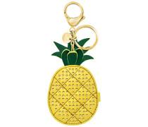 Lime Handtaschen-Charm, gelb, vergoldet Edelstahl