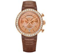 Citra Sphere Chrono Uhr, Brown Weiss Rosé vergoldet