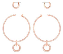 Stone Ohrringset, rosa, Rosé vergoldet