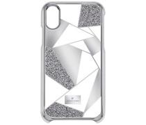 Heroism Smartphone Etui mit Bumper, iPhone® X, grau Edelstahl