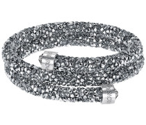 Crystaldust Doppel-Armreif, grau, Edelstahl Grau Edelstahl