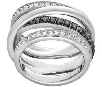 Dynamic Ring, grau, rhodiniert Grau Rhodiniert