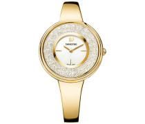 Crystalline Pure Uhr, Metallarmband, weiss, goldfarben Weiss vergoldet