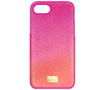 High Ombre Smartphone Etui mit Bumper, iPhone® 8 Plus, rosa Edelstahl