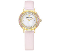 Playful Mini Uhr, Lederarmband, rosa, goldfarben Rosa vergoldet