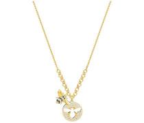 Lisabel Halskette, klein, weiss, vergoldet Weiss vergoldet