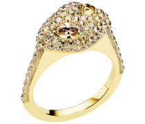 Moselle Stacking Ring, vergoldet Braun vergoldet