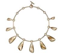 Chandelier Halskette, vergoldet Braun vergoldet