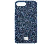 High Smartphone Etui mit Bumper, iPhone® 8 Plus, blau Edelstahl