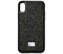 Glam Rock Smartphone Etui mit integriertem Bumper, iPhone® X, schwarz Edelstahl