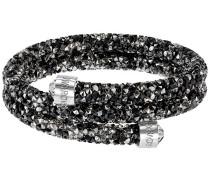 Crystaldust Doppel-Armreif, mehrfarbig, Edelstahl Mehrfarbig dunkel Edelstahl