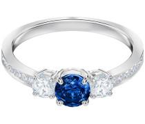 Attract Trilogy Round Ring, blau, rhodiniert Blau Rhodiniert