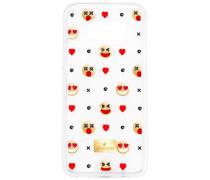 Humorist Smartphone Etui mit Bumper, Samsung Galaxy S® 8, transparent Edelstahl