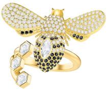 Lisabel Ring, weiss, vergoldet Weiss vergoldet