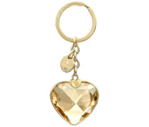 New Heart Handtaschen-Charm, goldfarben, vergoldet vergoldet