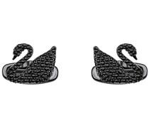 Swan Manschettenknöpfe, schwarz, Schwarzes PVD-Finish Schwarz