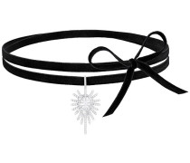 Hippy Halsband, weiss, rhodiniert Weiss Rhodiniert