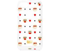 Humorist Smartphone Etui mit Bumper, iPhone® 8 Plus, mehrfarbig Edelstahl