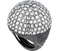 Celestial Fit Cocktail Ring, grau, Schwarz rutheniert