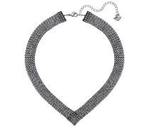Fit Halskette, schwarz, rutheniert Grünblau Rhodiniert