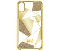 Heroism Smartphone Etui mit Bumper, iPhone® X, goldfarben Edelstahl
