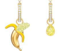 No Regrets Banana Ohrringe, mehrfarbig, vergoldet