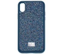 Glam Rock Smartphone Etui mit integriertem Bumper, iPhone® X, blau Edelstahl