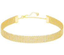 Fit Halskette, goldfarben, vergoldet Braun vergoldet