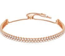Subtle Double Armband, weiss, rosé Vergoldung